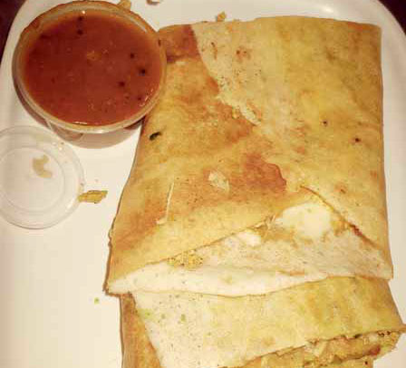 Chicken Cheese Masala Dosa Curry